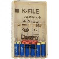K-vijlen Colorinox 21 mm ISO 030 Blauw