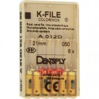K-vijlen Colorinox 21 mm ISO 050 Geel