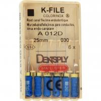 K-vijlen Colorinox 25 mm ISO 030 Blauw